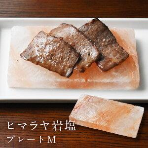 ヒマラヤ岩塩プレート Mサイズ 中 15×8cm ヒマラヤンロックソルト 焼肉 バーベキュー 蒸し焼き 器 グリル ヒマラヤ岩塩 塩 ソルト アウトドア BBQ キャンプ MR553-M