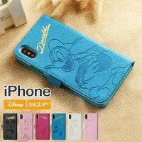 iPhone8iPhoneXiPhone7iPhone6s/6手帳型iPhoneケース【メール便送料無料】iPhone7ケース箔押しディズニーカード収納スマホケースミッキーミニードナルドデイジーDISNEYDIGD7TEGDX