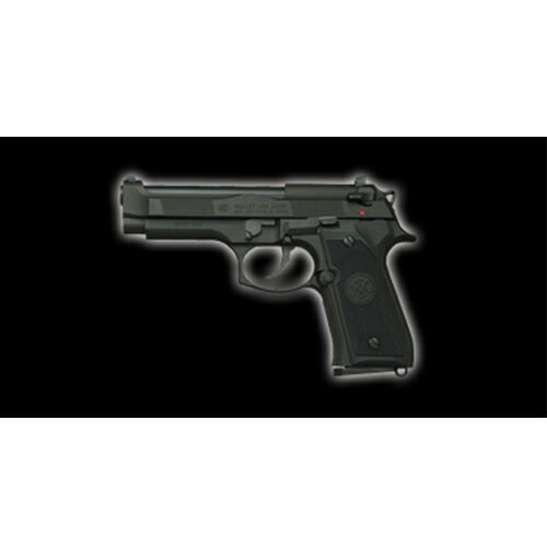[対象年齢18歳以上] 発火モデルガン M92F CQB ブラックヘビーウェイト