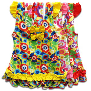 フリル FLOWER 総柄 花柄 リボン 水着 スイムウェア ワンピース キッズ ジュニア 女の子 子供 こども 子ども キッズ 小学生 幼稚園 夏 レジャー 海 プール 紫外線対策 可愛い おしゃれ かっこい