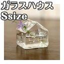 「ガラスハウス Sサイズ」インテリア フラワーベース 花瓶 小さい 家型 ガラス 透明 花器 一輪挿し ガラスベース