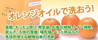 オレンジオイルで洗おう♪多目的洗剤