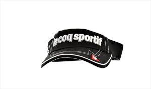 ルコックゴルフ コットンツイルクリップマーカー付きバイザー QG0265 N151 ブラック