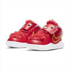 [NIKE]ナイキジュニアバスケットボールシューズナイキ チーム ハッスル D 9 LIL TD(CT4066600)(600)CHILE RED/CHILE RED-WOLF GREY-BLACK