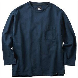カンタベリー 4×5袖 ドライミックス ラガー シャツ RA40577 29 ネイビー