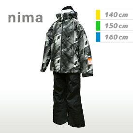 [nima]ニーマジュニア キッズスキーウェア上下セット(JR9001)(19P)ブラック
