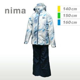[nima]ニーマジュニア キッズスキーウェア上下セット(JR9001)(21P)ホワイト