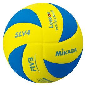 ミカサ レッスンバレーボール ソフト4号 SLV4-YBL イエロー×ブルー
