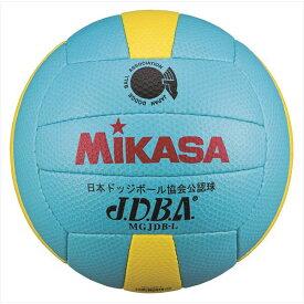 ミカサ ドッジボール 検定球 軽量3号球 MGJDB-L ライトブルー×イエロー