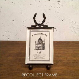 RECOLLECT FRAME ガラス フォトフレーム 写真立て 小さい ミニフレーム アンティーク レトロ 金属 オシャレ 金 銀 銅 ゴールド シルバー ブロンズ 錆 サビ カード 雑貨 真鍮 ブラス