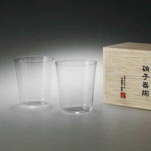 オールドM 木箱2P うすはり 松徳硝子 セット 2個 ロックグラス ジュース お酒 ガラス 硝子 透明 クリア グラス コップ 酒器 シンプル 和 お祝い 国産 日本製 【楽ギフ_包装】