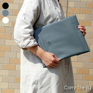 penco キャリータイト L ノートパソコン ケース カバー 13インチ かわいい おしゃれ インナーケース 防水 ターポリン ホワイト 白 グレー ブラック 黒 タブレットケース GP082