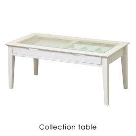 ine reno collection table INT-2576WH アイネ リノ コレクション テーブル ガラス 卓上 長方形 オシャレ かわいい レトロ アンティーク ナチュラル インテリア 家具 ホワイト 白 シンプル 木製 ウッド 木
