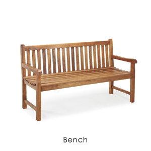 ベンチ 長椅子 背もたれ アーム付き チーク アウトドア エクステリア 屋外 椅子 イス いす ガーデン カフェ かわいい 折りたたみ コンパクト ウッド 木 木製 レトロ ブラウン ナチュラル オイ