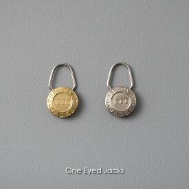 CANDY DESIGN&WORKS One Eyed Jacks キーホルダー 真鍮 かわいい 面白い 取り外し カラビナ ゴールド シルバー シャックル キーリング アンティーク ビンテージ ヴィンテージ