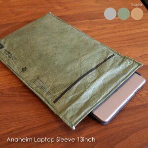 \ポイント最大10倍!21日9:59まで/Anaheim Laptop Sleeve 13inch ノートパソコン ケース カバー 13インチ かわいい おしゃれ インナーケース タブレットケース 防水 タイベック カーキ ベージュ クラ