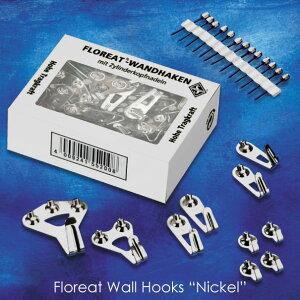 """フック 金具 パーツ 部品 壁掛け 壁 ピン 残らない 目立たない Floreat Wall Hooks """"Nickel"""" フローリートウォールフック ニッケル 鍵掛け 画鋲 DIY シルバー 銀 金属 インテリア 雑貨 ハンガー アンテ"""