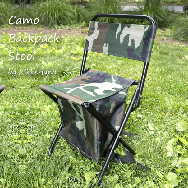KIKKERLAND Camo Backpack Stool バックパックスツール 椅子 アウトドア キャンプ 登山 12L 釣り 迷彩 リュック おしゃれ