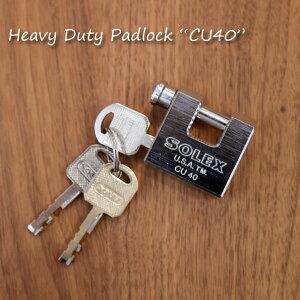 """solex Heavy Duty Padlock """"CU40""""パドロック 南京錠 鍵付き おしゃれ かわいい 真鍮 シルバー クロームメッキ"""