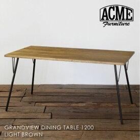 \ポイント最大10倍!9日 1:59まで/ACME FURNITURE GRANDVIEW DINING TABLE S LIGHT BROWN グランドビューダイニングテーブル 幅120 二人用 家具 おしゃれ 天然木 無垢 アイアン オーク 北欧 西海岸 アンティーク