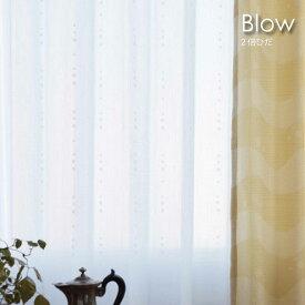 【ポイント最大27倍!29日23:59まで】【2倍ヒダ】WAVE SALAD Blow レースカーテン 色 カラー オーダーカーテン カーテン ミラー UVカット 遮像 オーダーメイド おしゃれ 北欧 かわいい モダン 西海岸 ヴィンテージ 水玉 ドット