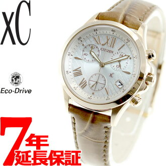 Citizen cloth-xC CITIZEN eco-drive solar watch women's chronograph Kitagawa Keiko FB1402-05 A