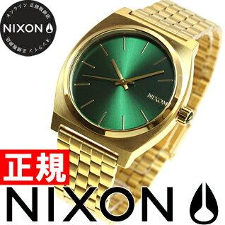 【500円OFFクーポン!1月18日12時59分まで!】ニクソン NIXON タイムテラー TIME TELLER 腕時計 メンズ ゴールド/グリーンサンレイ NA0451919-00