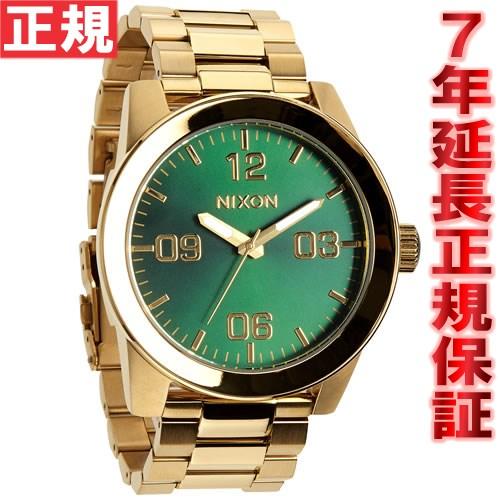 ニクソン NIXON コーポラルSS CORPORAL SS 腕時計 メンズ ゴールド/グリーンサンレイ NA3461919-00