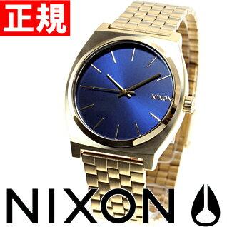 【500円OFFクーポン!11月27日12時59分まで!】ニクソン NIXON タイムテラー TIME TELLER 腕時計 メンズ オールライトゴールド/コバルト NA0451931-00