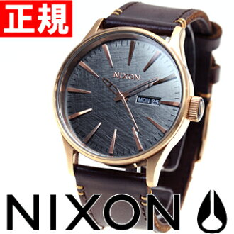 尼克松NIXON步哨皮革SENTRY LEATHER手表人玫瑰黄金/炮铜/棕色NA1052001-00