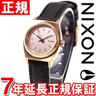 ニクソン NIXON スモールタイムテラーレザー SMALL TIME TELLER LEATHER 腕時計 レディース オールローズゴールド/ブラック NA5091932-00