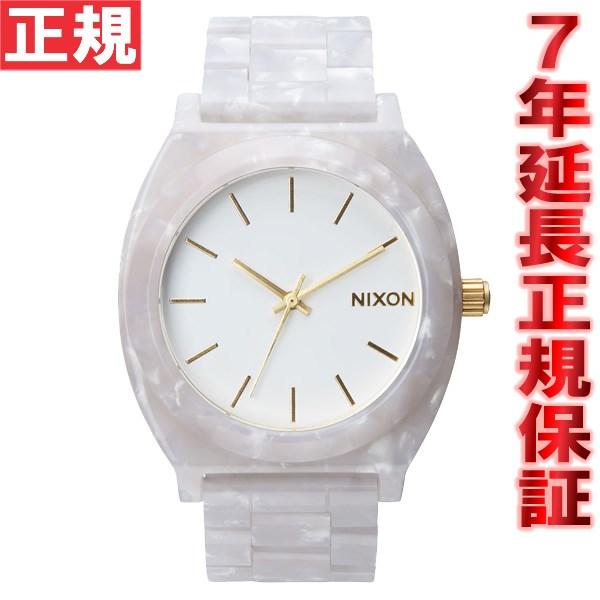 ニクソン NIXON タイムテラーアセテート TIME TELLER ACETATE 限定モデル 腕時計 レディース/メンズ ホワイトグラニット/ゴールド NA3272031-00【あす楽対応】【即納可】