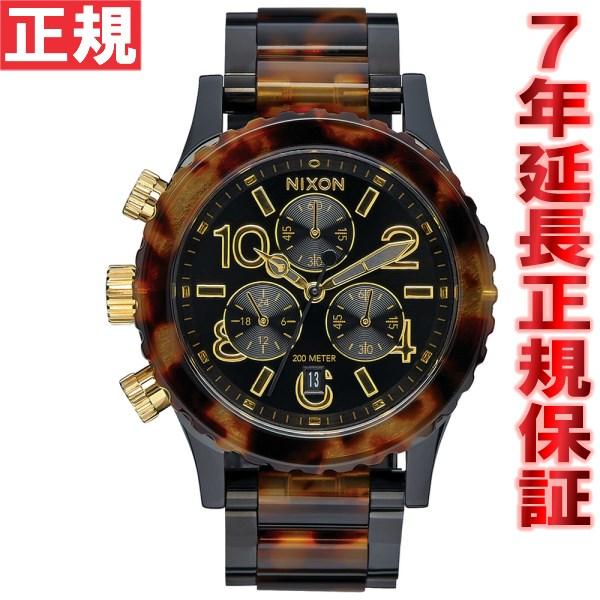 ニクソン NIXON 38-20クロノ 38-20 CHRONO 腕時計 レディース クロノグラフ オールブラック/トートイズ NA404679-00