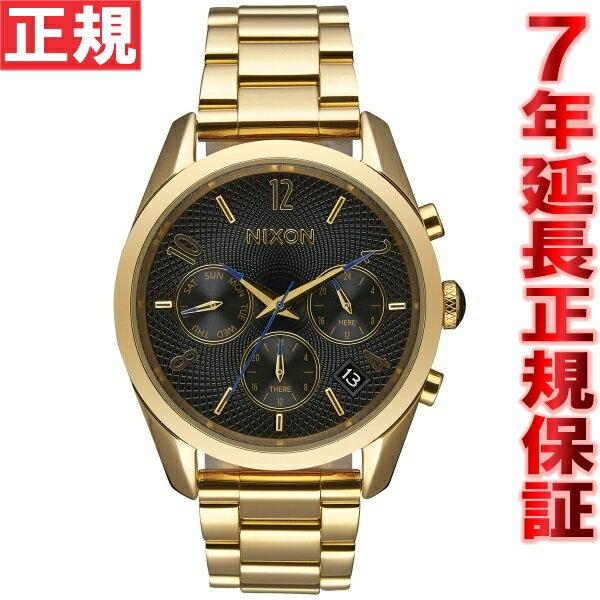 ニクソン NIXON ブレットクロノ36 BULLET CHRONO 36 腕時計 レディース クロノグラフ オールゴールド/ブラック NA949510-00