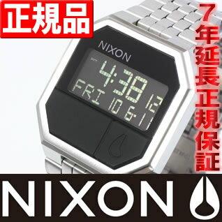 本日ポイント最大25倍!24日9時59分まで! 10%OFFクーポン!31日23:59まで! NIXON RE-RUN (リ・ラン) ブラック ニクソン 腕時計 メンズ NA158000-00