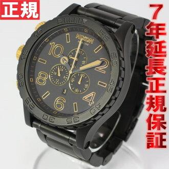 Nixon NIXON 51-30 CHRONO Chrono Watch men's matte black / gold chronograph NA0831041-00