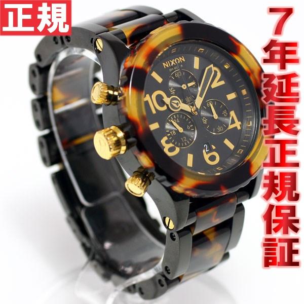 ニクソン NIXON THE 42-20 CHRONO クロノ 腕時計 レディース オールブラック トートイズ べっ甲 NA037679-00