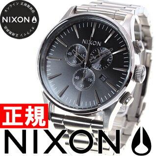 【1000円OFFクーポン!12月21日1時59分まで!】ニクソン NIXON セントリークロノ SENTRY CHRONO 腕時計 メンズ クロノグラフ ブラック NA386000-00