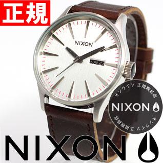 ニクソン NIXON セントリー レザー SENTRY LEATHER 腕時計 メンズ シルバー/ブラウン NA1051113-00