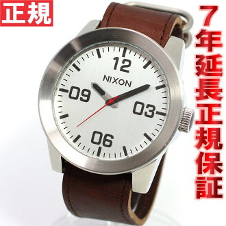Nixon NIXON corporal CORPORAL watch mens silver / Brown NA2431113-00