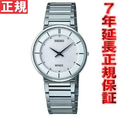セイコー ドルチェ&エクセリーヌ 腕時計 薄型ペア SEIKO DOLCE&EXCELINE ホワイト SACK015