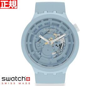 swatch スウォッチ 腕時計 メンズ レディース オリジナルズ ビックボールド バイオセラミック C-BLUE BIG BOLD BIOCERAMIC SB03N100【2021 新作】
