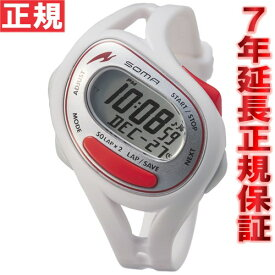 SOMA ソーマ ランニングウォッチ 腕時計 RunONE 50 ランワン50 デジタル ホワイト/レッド DWJ23-0003