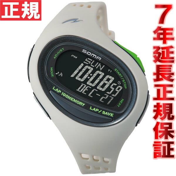 SOMA ソーマ ランニングウォッチ 腕時計 ランワン RunONE 100SL ラージ ホワイト/ブラック NS08008