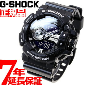【20日0時〜!最大1万円OFFクーポン&店内ポイント最大37倍!20日23時59分まで】G-SHOCK ブラック 腕時計 メンズ アナデジ GA-400GB-1AJF