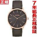 ニクソン NIXON ポーターレザー PORTER LEATHER 腕時計 メンズ ローズゴールド/ガンメタル/サープラス NA10582441-00【2016 新作】
