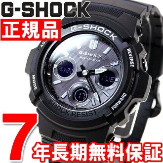 G-SHOCK G-Shock Casio electric wave solar watch men radio time signal ガリッシュブラックアナデジ AWG-M100BW-1AJF