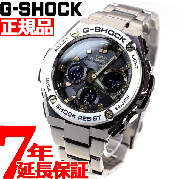 カシオ Gショック Gスチール CASIO G-SHOCK G-STEEL 電波 ソーラー 電波時計 腕時計 メンズ ブラック×ゴールド アナデジ タフソーラー GST-W110D-1A9JF【あす楽対応】【即納可】