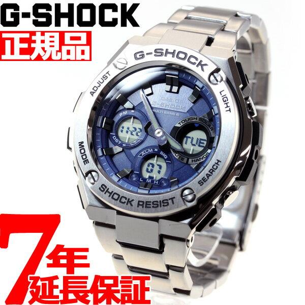 カシオ Gショック Gスチール CASIO G-SHOCK G-STEEL 電波 ソーラー 電波時計 腕時計 メンズ ブルー アナデジ タフソーラー GST-W110D-2AJF【あす楽対応】【即納可】