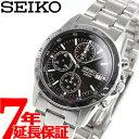 【店内ポイント最大35倍】セイコー逆輸入 SEIKO クロノグラフ ブラック 腕時計 メンズ 100m防水 SND367P1